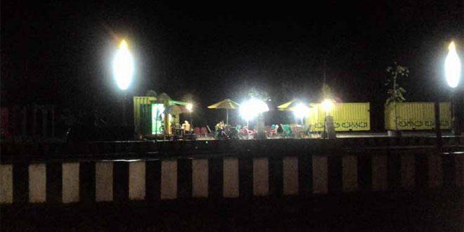 Mulai Ada Pedagang di Taman Kuliner Tunggal Sangomang